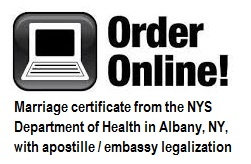order online new york state marriage certificate